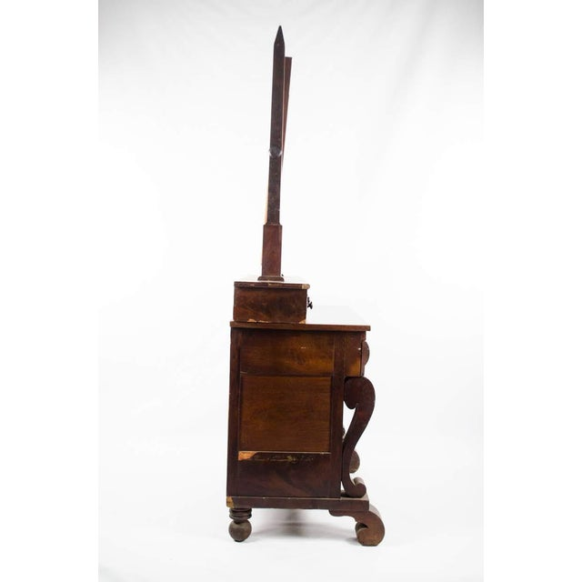 Late 19th Century Antique American Empire Mahogany Vanity Dresser For Sale - Image 4 of 13