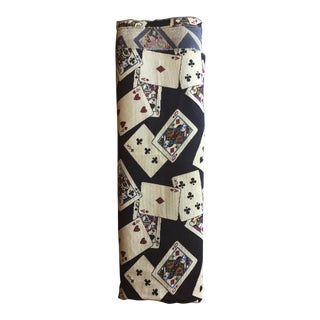 Vintage 1960s Scalamandré Playing Cards Fabric For Sale