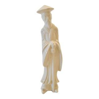 Vintage Chinoiserie Blanc De Chine Figure For Sale