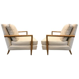 Pair of Robsjohn-Gibbings Style Lounge Chairs For Sale
