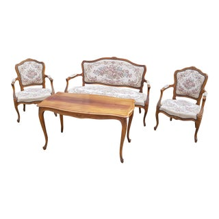 Vintage Danish Louis XIV Style Seating Set- 4 Pieces For Sale