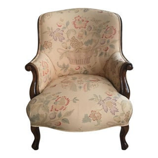 Barrel Back Antique Armchair