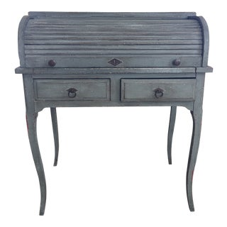 19th Century Petite French Roll Top Desk For Sale