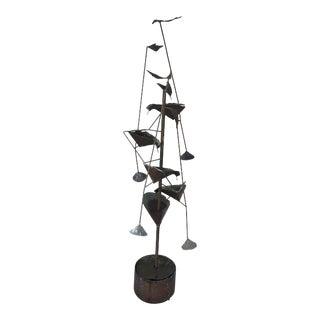1960s 'Tumbling Waters' Hans Van De Bovenkamp Copper Fountain Sculpture For Sale