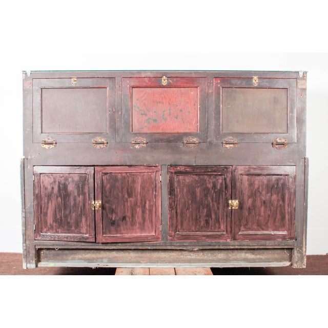 Antique Marble & Glass Store Display For Sale - Image 5 of 10
