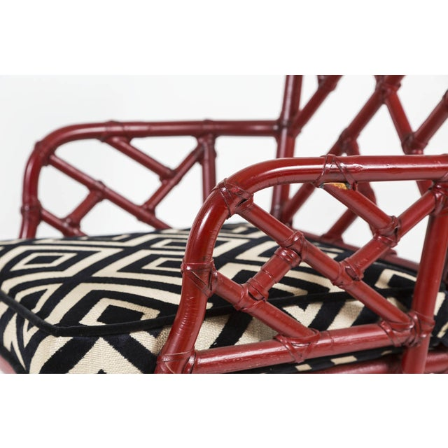 Vintage Bamboo Chinese Chippendale Chairs - A Pair - Image 9 of 9
