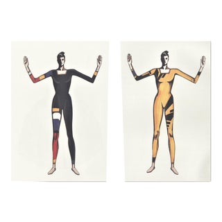Pair-Matted Dance Costume Designs by Versace for Bejart For Sale