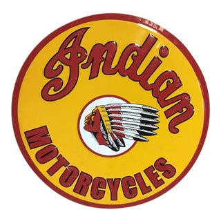 Vintage Indian Motorycle Metal Sign