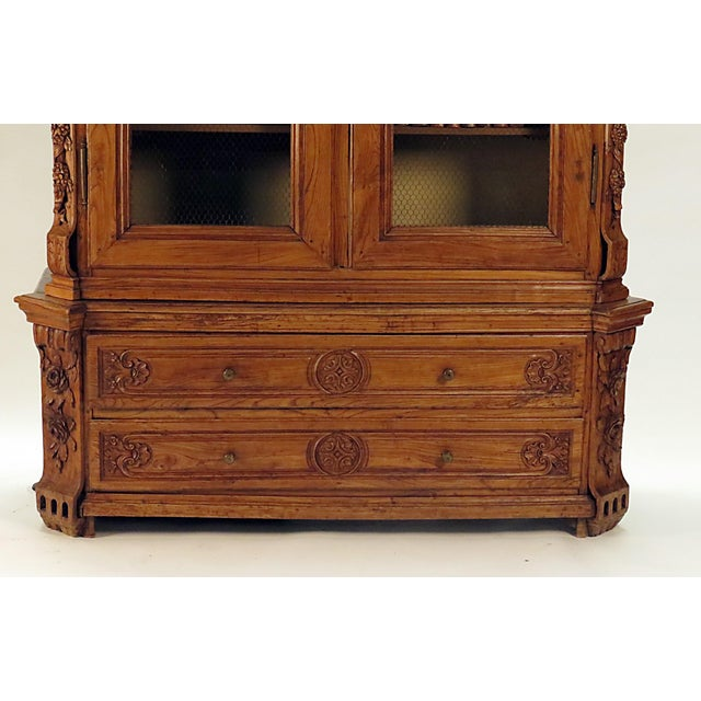 Early 19th Century Early 19th Century Elm Richly Carved Baltic Cabinet For Sale - Image 5 of 8