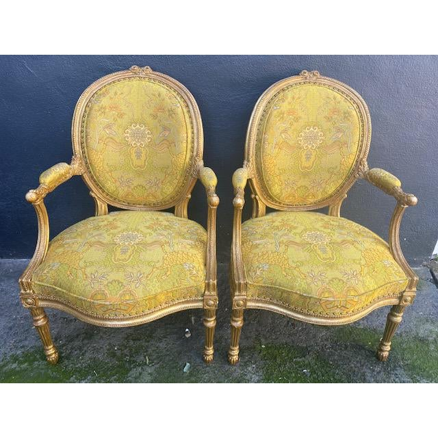 19th C. English Giltwood Armchairs - a Pair For Sale - Image 13 of 13