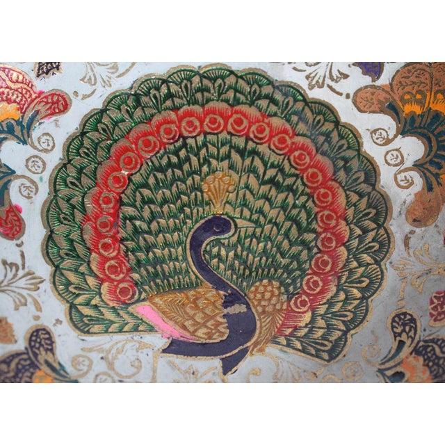 Enamel Peacock Dish - Image 2 of 4