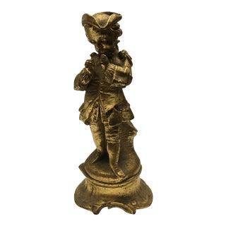 1860 Gilt Gold Ceramic Bud Vase For Sale