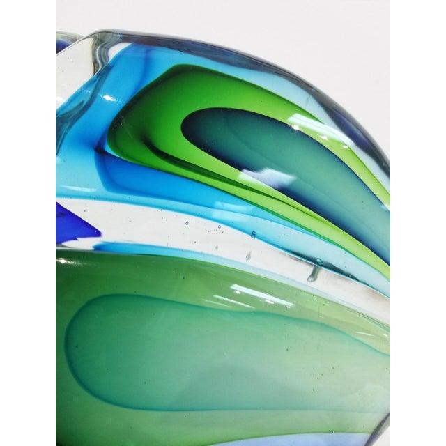 Blue 1960s Vintage Antonio Da Ros Murano Glass Toucan For Sale - Image 8 of 9