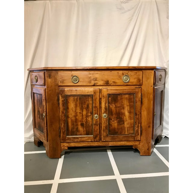 Brown Unusual Napoleon III Walnut Buffet For Sale - Image 8 of 8