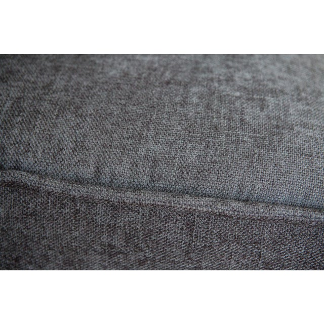 Modern Upholstered Gray Ottoman For Sale - Image 5 of 5