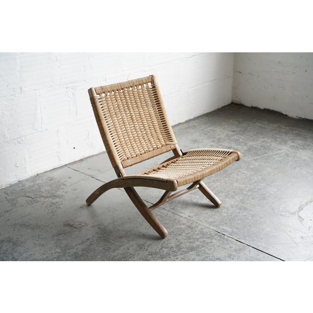1960s Woven Chord Lounge Chair For Sale - Image 5 of 5