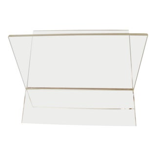 1970s Vintage Lucite Magazine Rack For Sale