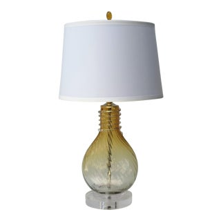 Venetian Blown Glass Lamp and Shade by C. Damien Fox For Sale