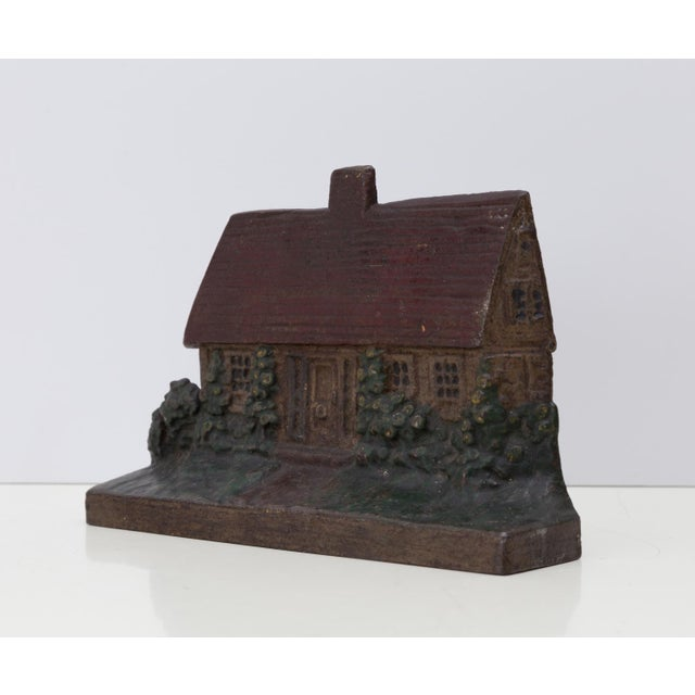 Farmhouse 1920s Cast Iron Cottage Doorstop Shabby Chic For Sale - Image 3 of 5