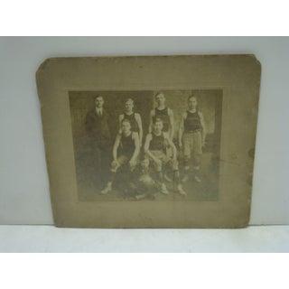1913-1914 Garfield Basketball Team Black & White Photograph Preview