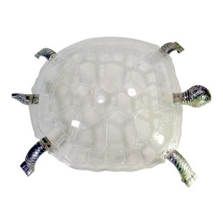 Arthur Court Mid-Century Modern Grainware Turtle Serving Platter For Sale