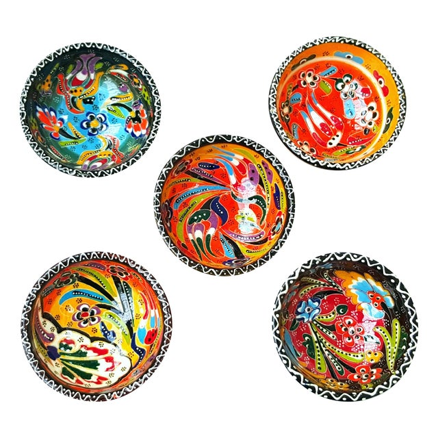 Turkish Tile Bowls - Set of 5 - Image 1 of 4
