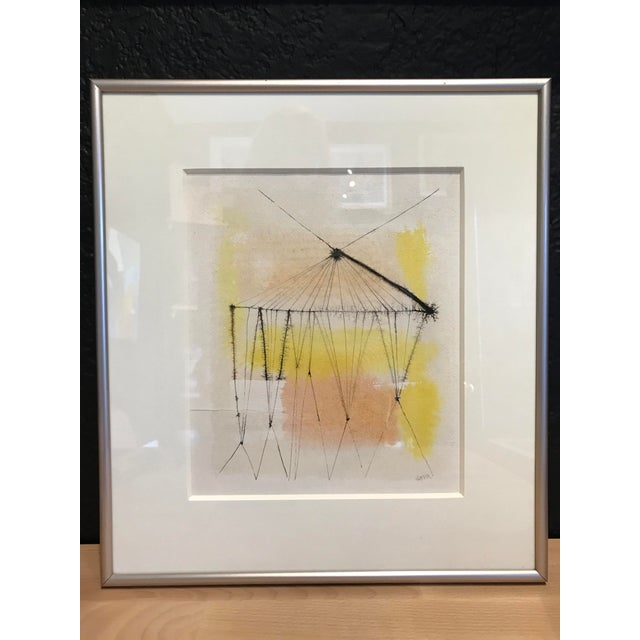 1960s Anita Simpson Watercolor and Ink Abstract - Image 9 of 9