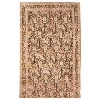 Antique 19th Century Persian Lavar Kerman Carpet For Sale