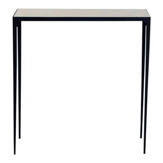 Esquisse' Wrought Iron and Parchment Console by Design Frères For Sale