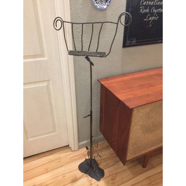 Mid-Century Modern Artisan-Crafted Whimsical Music Stand For Sale - Image 3 of 8