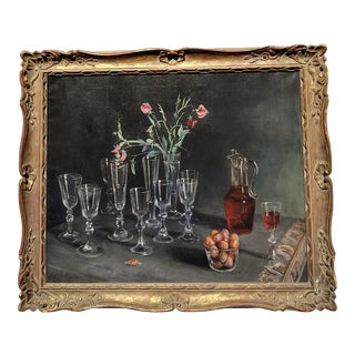 Mid-Century Realist Still Life Painting by David Hill, Framed For Sale