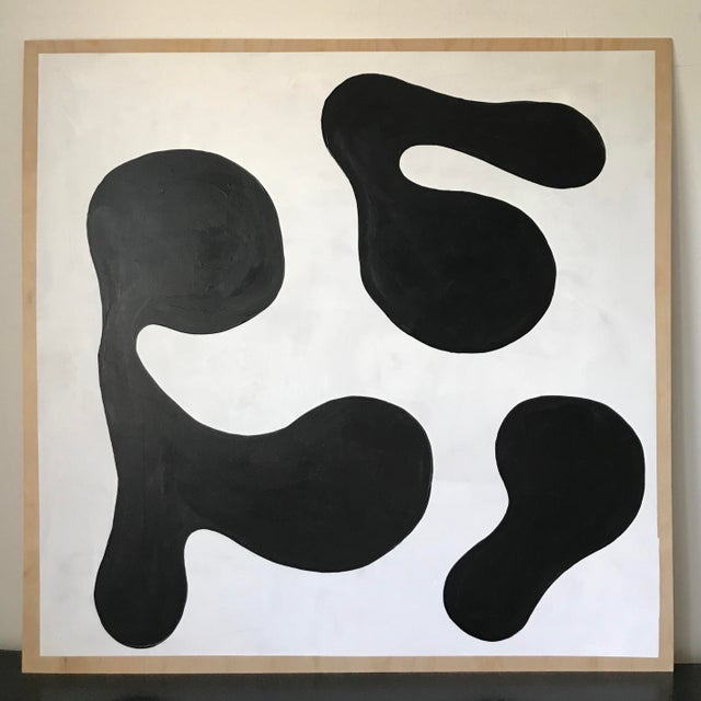 Modern Formation Monochrome Oversized Abstract Painting By Hannah Polskin For Sale - Image 11 of 11
