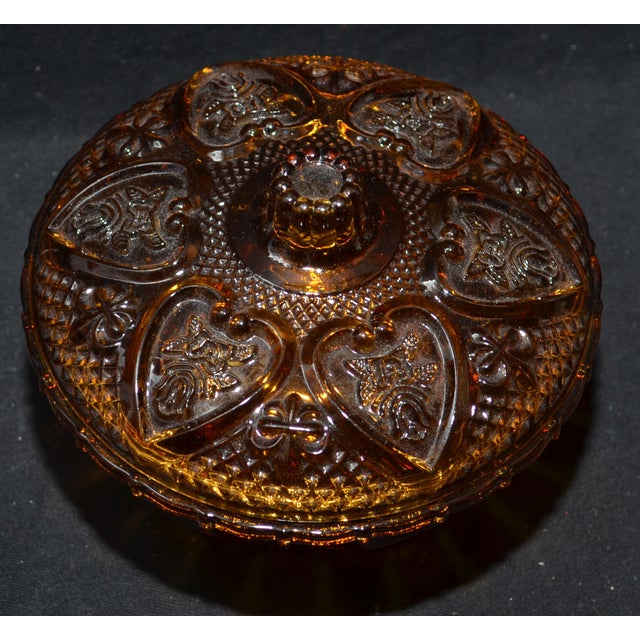 Anchor Hocking Renaissance Amber Glass Covered Dish - Image 4 of 7