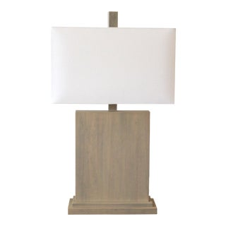 Modern Plank Lamp With White Shade