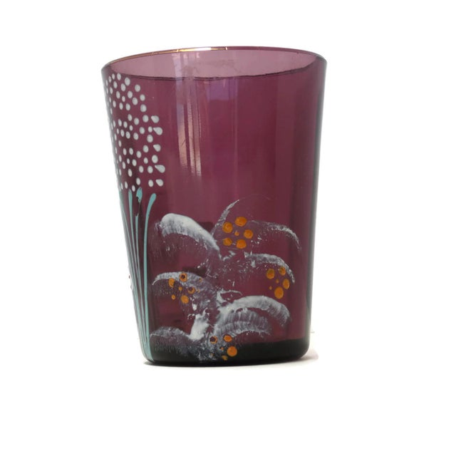 Cottage Antique Victorian Purple Glass Tumbler For Sale - Image 3 of 6