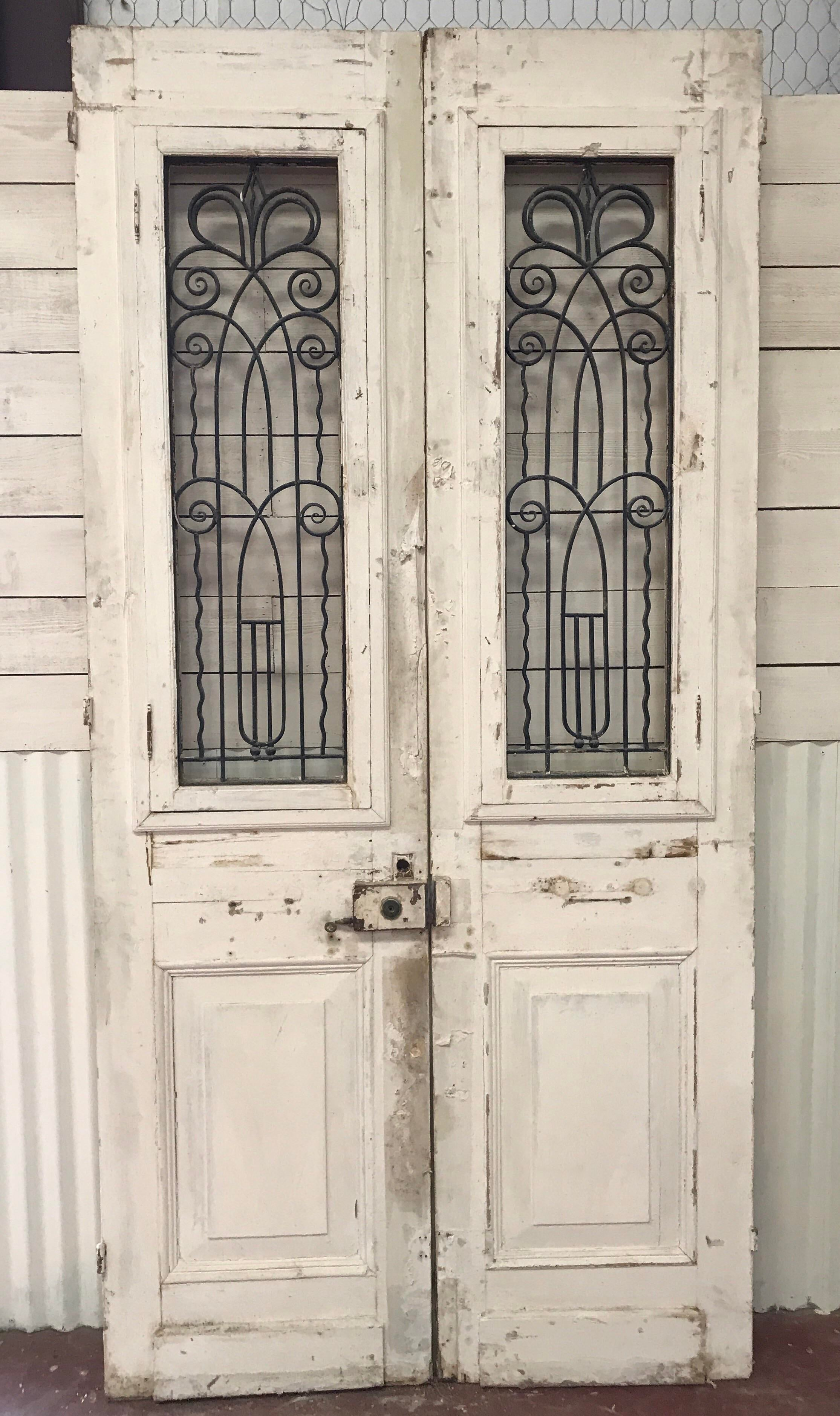 French Architectural Doors - A Pair - Image 5 of 6  sc 1 st  Chairish & French Architectural Doors - A Pair   Chairish