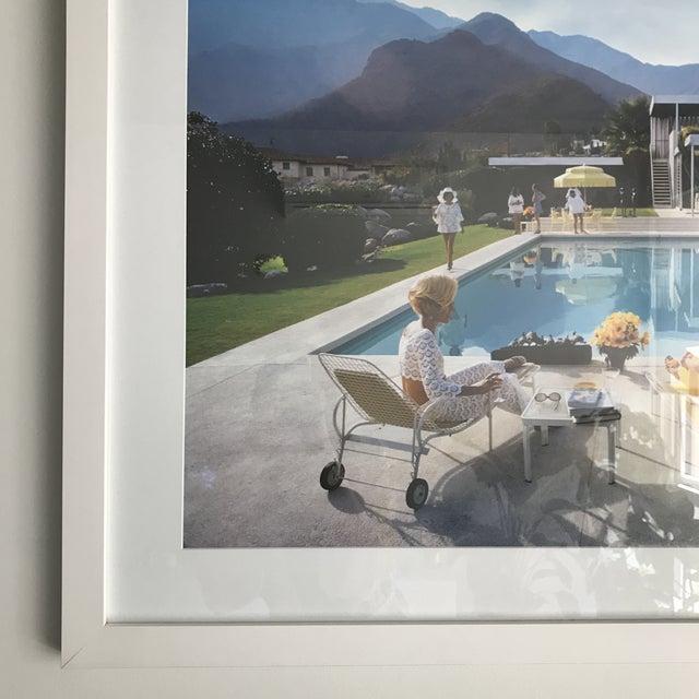 Framed Slim Aarons Poolside Gossip Print For Sale - Image 4 of 6