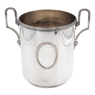 Mid 20th Century Vintage French Silver Plate Neoclassical Champagne Bucket For Sale