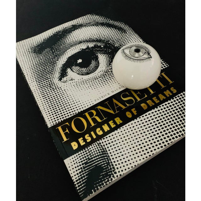 Ceramic 1960s Piero Fornasetti Surrealist Ceramic Eye Eyeball Paperweight For Sale - Image 7 of 11