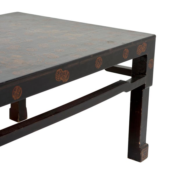 Early 20th Century Early 20th Century Chinese Lacquer Coffee Table For Sale - Image 5 of 7