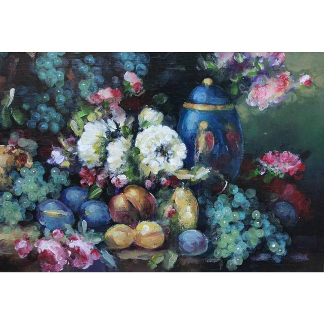 Impressionism Abundant Still Life Painting For Sale - Image 3 of 5