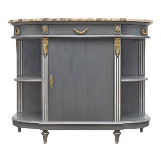 Louis XVI Style Painted Demilune Buffet For Sale