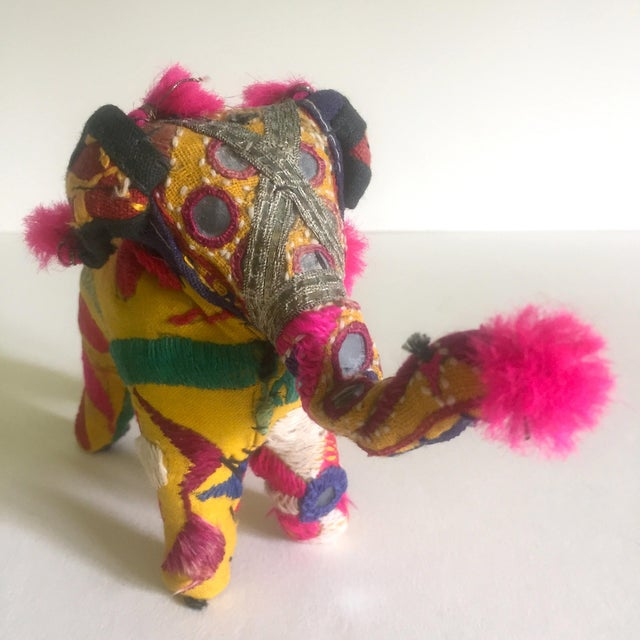 Vintage Indian Patchwork Elephant Figurine For Sale - Image 9 of 11