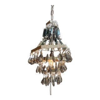 French Smoke Crystal Chandelier For Sale