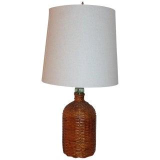 19th Century Demi-John Bottle Table Lamp For Sale