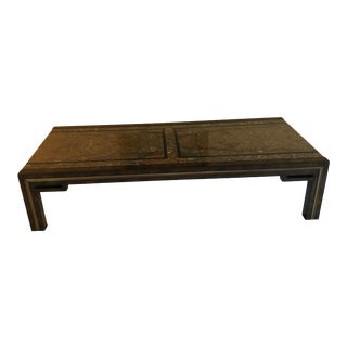 Mastercraft Marble and Brass End Table For Sale