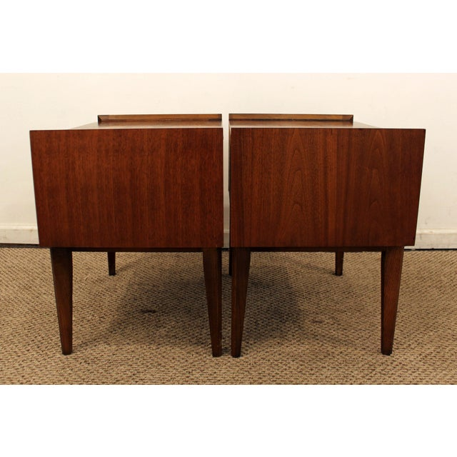 Lane Mid-Century Danish Modern Walnut Nighstands- A Pair - Image 5 of 11