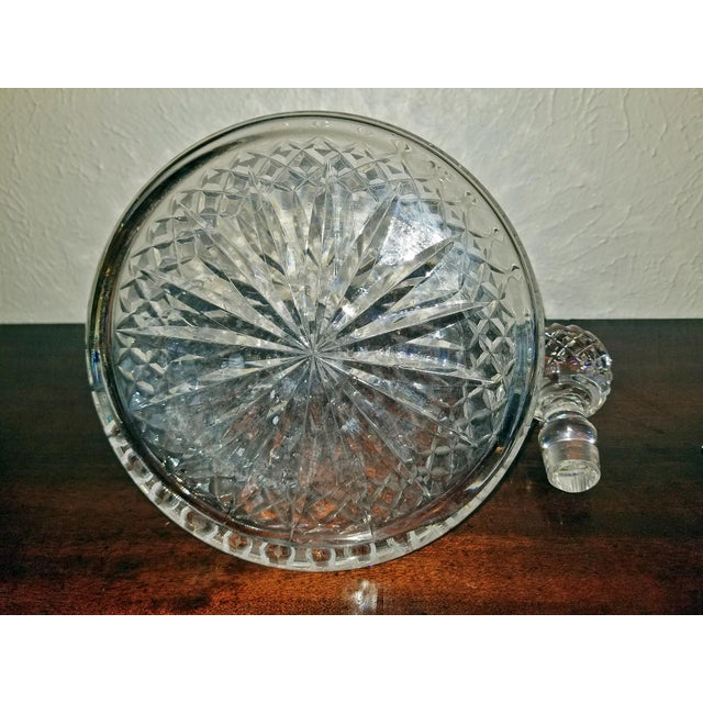 Vintage Irish Waterford Crystal Ships Decanter With Solid Silver Wine Label For Sale - Image 10 of 13