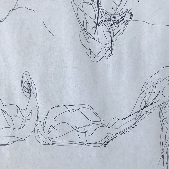 Figurative Backside Figurative Drawing For Sale - Image 3 of 3