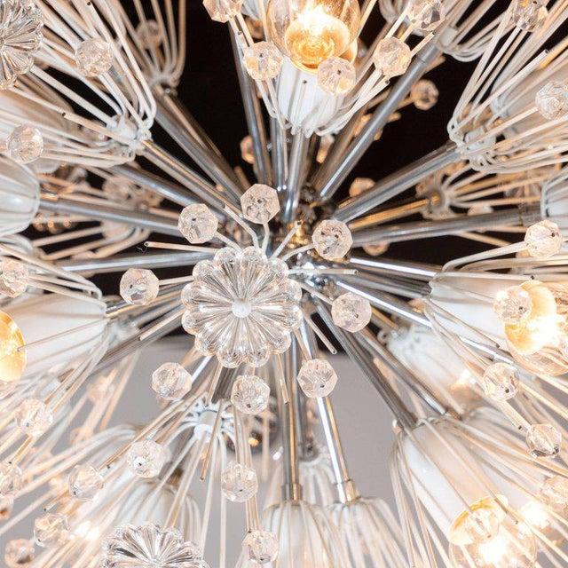 Emil Stejnar Midcentury Crystal Sputnik Chandelier by Emil Stejnar for Rupert Nikoll For Sale - Image 4 of 9